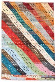 Moroccan Berber - Afghanistan Matto 141X208 Moderni Käsinsolmittu Tummanharmaa/Oranssi (Villa, Afganistan)