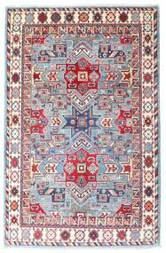 Kazak Matto 121X186 Itämainen Käsinsolmittu Valkoinen/Creme/Pinkki (Villa, Afganistan)