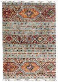 Shabargan Matto 103X148 Moderni Käsinsolmittu Vaaleanharmaa/Tummanharmaa (Villa, Afganistan)