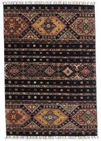 Shabargan Matto 100X145 Moderni Käsinsolmittu Tummansininen/Tummanharmaa (Villa, Afganistan)