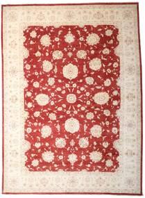 Ziegler Matto 303X411 Itämainen Käsinsolmittu Tummanpunainen/Vaaleanpunainen Isot (Villa, Pakistan)