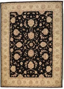 Ziegler Matto 302X418 Itämainen Käsinsolmittu Musta/Tummanbeige Isot (Villa, Pakistan)
