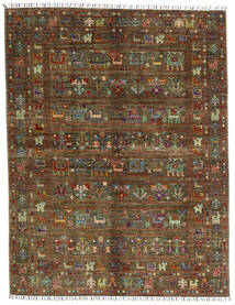 Shabargan .L Matto 156X201 Moderni Käsinsolmittu Tummanruskea/Ruskea (Villa, Afganistan)