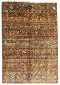 Shabargan Matto 169X242 Moderni Käsinsolmittu Ruskea/Tummanruskea (Villa, Afganistan)