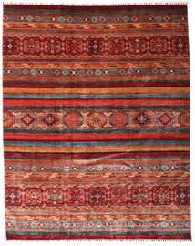 Sharbargan Matto 242X301 Moderni Käsinsolmittu Tummanpunainen/Tummanharmaa (Villa, Afganistan)