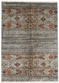 Shabargan Matto 175X252 Moderni Käsinsolmittu Ruskea/Tummanruskea (Villa, Afganistan)