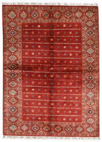 Shabargan Matto 170X231 Moderni Käsinsolmittu Ruoste/Tummanpunainen (Villa, Afganistan)