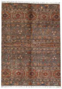 Shabargan Matto 167X231 Moderni Käsinsolmittu Tummanruskea/Ruskea (Villa, Afganistan)