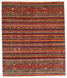 Shabargan Matto 245X286 Moderni Käsinsolmittu Tummanharmaa/Ruoste (Villa, Afganistan)