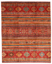 Shabargan Matto 249X310 Moderni Käsinsolmittu Tummanpunainen/Ruoste (Villa, Afganistan)