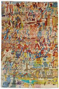 Moroccan Berber - Afghanistan Matto 199X303 Moderni Käsinsolmittu Tummanbeige/Tummanruskea (Villa, Afganistan)