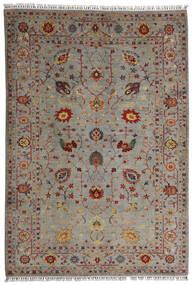 Shabargan Matto 208X304 Moderni Käsinsolmittu Vaaleanharmaa/Vaaleanruskea (Villa, Afganistan)