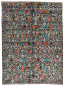Moroccan Berber - Afghanistan Matto 170X240 Moderni Käsinsolmittu Tummanharmaa/Vaaleanharmaa (Villa, Afganistan)