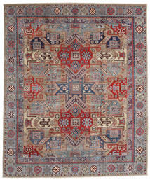 Kazak Matto 250X302 Itämainen Käsinsolmittu Vaaleanharmaa/Tummanpunainen Isot (Villa, Afganistan)