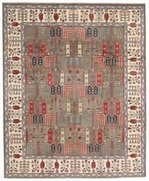 Kazak Matto 244X296 Itämainen Käsinsolmittu Vaaleanharmaa/Beige (Villa, Afganistan)