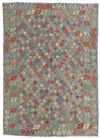 Kelim Afghan Old Style Matto 165X229 Itämainen Käsinkudottu Vaaleanharmaa/Tummanharmaa (Villa, Afganistan)