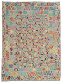 Kelim Afghan Old Style Matto 184X245 Itämainen Käsinkudottu Vaaleanharmaa/Tummanharmaa (Villa, Afganistan)
