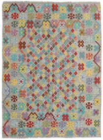 Kelim Afghan Old Style Matto 171X231 Itämainen Käsinkudottu Vaaleanharmaa/Tummanharmaa (Villa, Afganistan)