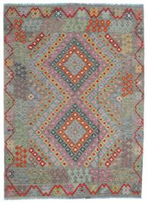 Kelim Afghan Old Style Matto 170X234 Itämainen Käsinkudottu Tummanharmaa/Vaaleanruskea (Villa, Afganistan)