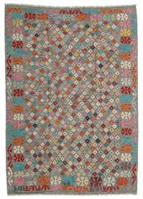 Kelim Afghan Old Style Matto 168X236 Itämainen Käsinkudottu Vaaleanharmaa/Tummanharmaa (Villa, Afganistan)