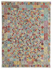 Kelim Afghan Old Style Matto 174X231 Itämainen Käsinkudottu Vaaleanharmaa/Tummanharmaa (Villa, Afganistan)