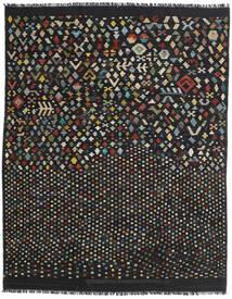 Kelim Moderni Matto 181X228 Moderni Käsinkudottu Musta/Tummanharmaa (Villa, Afganistan)