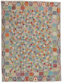 Kelim Afghan Old Style Matto 173X232 Itämainen Käsinkudottu Vaaleanharmaa/Tummanharmaa (Villa, Afganistan)
