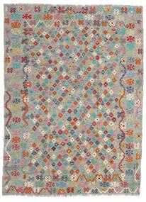 Kelim Afghan Old Style Matto 179X240 Itämainen Käsinkudottu Vaaleanharmaa/Tummanharmaa (Villa, Afganistan)
