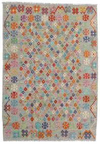 Kelim Afghan Old Style Matto 167X238 Itämainen Käsinkudottu Vaaleanharmaa/Tummanharmaa (Villa, Afganistan)