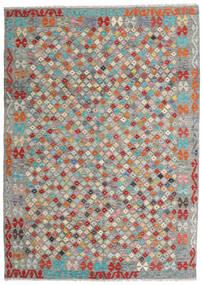 Kelim Afghan Old Style Matto 170X237 Itämainen Käsinkudottu Tummanharmaa/Vaaleanharmaa (Villa, Afganistan)