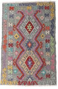 Kelim Afghan Old Style Matto 94X144 Itämainen Käsinkudottu Vaaleanharmaa/Tummanruskea (Villa, Afganistan)