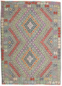 Kelim Afghan Old Style Matto 174X241 Itämainen Käsinkudottu Vaaleanharmaa/Tummanharmaa (Villa, Afganistan)
