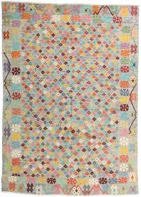 Kelim Afghan Old Style Matto 165X232 Itämainen Käsinkudottu Vaaleanharmaa/Vaaleanpunainen (Villa, Afganistan)