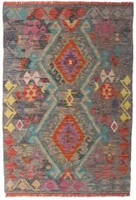 Kelim Afghan Old Style Matto 98X146 Itämainen Käsinkudottu Vaaleanruskea/Vaaleanharmaa (Villa, Afganistan)
