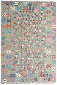 Kelim Afghan Old Style Matto 163X236 Itämainen Käsinkudottu Vaaleanharmaa (Villa, Afganistan)