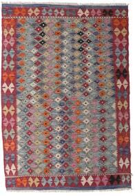 Kelim Afghan Old Style Matto 103X152 Itämainen Käsinkudottu Vaaleanharmaa/Tummanvioletti (Villa, Afganistan)