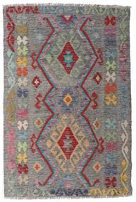 Kelim Afghan Old Style Matto 98X148 Itämainen Käsinkudottu Vaaleanharmaa/Tummanharmaa (Villa, Afganistan)