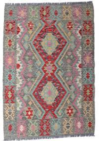 Kelim Afghan Old Style Matto 103X148 Itämainen Käsinkudottu Vaaleanharmaa/Tummanharmaa (Villa, Afganistan)