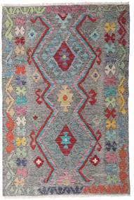 Kelim Afghan Old Style Matto 97X147 Itämainen Käsinkudottu Tummanharmaa/Vaaleanharmaa (Villa, Afganistan)