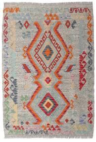 Kelim Afghan Old Style Matto 103X148 Itämainen Käsinkudottu Vaaleanharmaa (Villa, Afganistan)