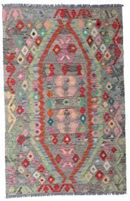 Kelim Afghan Old Style Matto 96X149 Itämainen Käsinkudottu Vaaleanharmaa/Tummanharmaa (Villa, Afganistan)