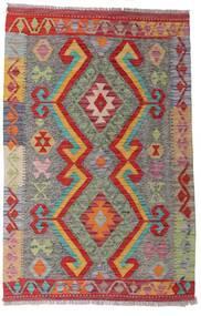 Kelim Afghan Old Style Matto 90X139 Itämainen Käsinkudottu Tummanpunainen/Vaaleanruskea (Villa, Afganistan)