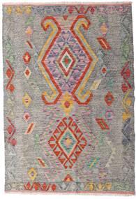 Kelim Afghan Old Style Matto 101X148 Itämainen Käsinkudottu Vaaleanharmaa/Vaaleanruskea (Villa, Afganistan)