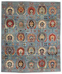 Kazak Matto 246X294 Itämainen Käsinsolmittu Tummanpunainen/Sininen (Villa, Afganistan)