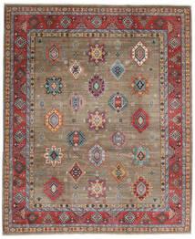 Kazak Matto 247X297 Itämainen Käsinsolmittu Vaaleanharmaa/Tummanpunainen (Villa, Afganistan)