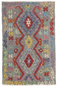Kelim Afghan Old Style Matto 96X149 Itämainen Käsinkudottu Tummanharmaa/Vaaleanharmaa (Villa, Afganistan)
