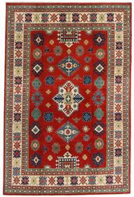 Kazak Matto 198X302 Itämainen Käsinsolmittu Tummanpunainen/Ruoste (Villa, Afganistan)