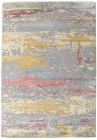 Damask Collection Matto 159X230 Moderni Käsinsolmittu Vaaleanharmaa/Vaaleanruskea ( Intia)
