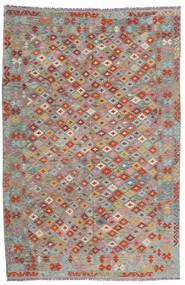 Kelim Afghan Old Style Matto 193X295 Itämainen Käsinkudottu Vaaleanharmaa/Tummanharmaa (Villa, Afganistan)