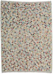 Kelim Afghan Old Style Matto 211X282 Itämainen Käsinkudottu Vaaleanharmaa (Villa, Afganistan)